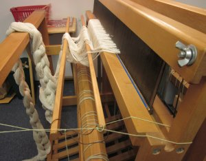 The reed goes into the loom