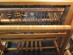 View from the back of the loom