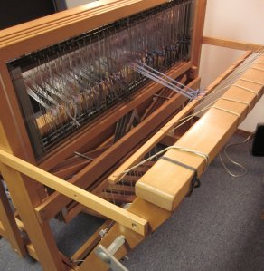 View of the back of the loom