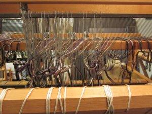 Each yarn gets a heddle