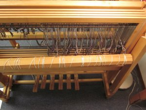 If you stood behind the loom, this is what you'd see!