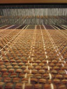 A view through the loom