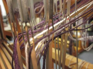 Each yarn gets its own heddle