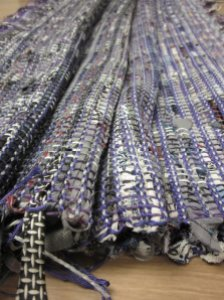 A little recycled necktie fabric!