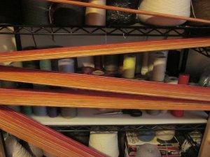Racing around the warping board!