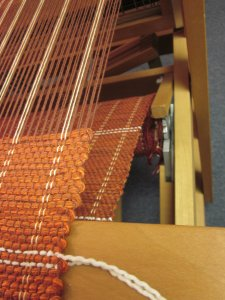 Wrapping around the loom...
