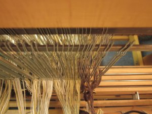 View from above the heddles!