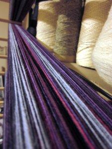 My own little racetrack of yarn!