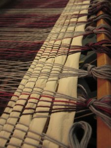 Knots & TP as far as the eye can see! (aka, the width of the loom!)