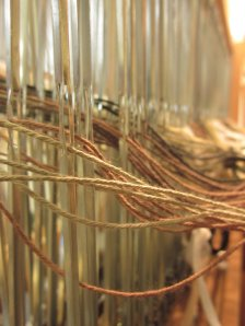 Can't see the loom for the heddles! (Or something like that!)