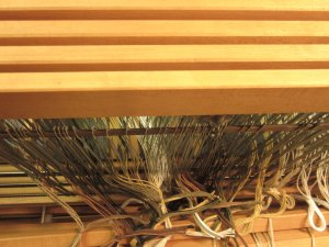 Here, you can see all 4 shafts that hold the heddles!
