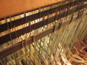 Bird's eye view of the heddles.