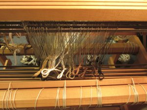 The view from the back of the loom.